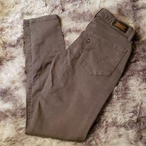 Levis 535 legging low rise skinny grey jeans